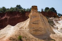 Cava ocracea, il Rossiglione, Provenza, Francia Fotografie Stock Libere da Diritti