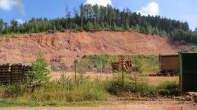 Cava rossa Fotografie Stock Libere da Diritti