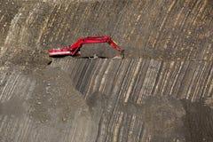 Cavador rojo en piedra-hoyo Imagen de archivo libre de regalías