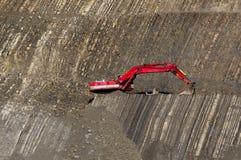 Cavador rojo en piedra-hoyo Foto de archivo libre de regalías