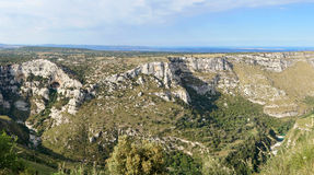 Cavagrande: panoramic view stock images