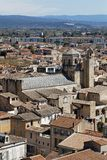 Cavaillon cathedral from the hill. Cavaillon town center an d cathedral as seen from the hill Royalty Free Stock Photos