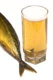 Cavala e cerveja fotografia de stock royalty free