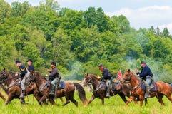 Cavalaria da união Imagens de Stock