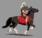 Cavalaria romana ilustração royalty free