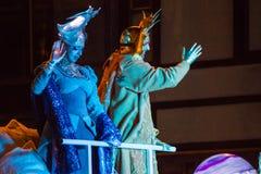 Cavalcade des Rois mages à Barcelone Photo libre de droits