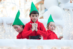 Cavalcade espagnole de Noël Images libres de droits
