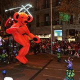 Cavalcade of Magi in Barcelona, Spain Stock Images