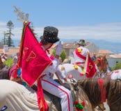 Cavalcade in Ribeira Grande, het eiland van Saomiguel, de Azoren, Portugal royalty-vrije stock foto's