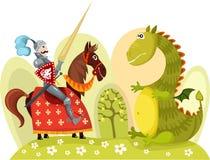 Cavaleiro ilustração royalty free