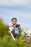 Cavaleiro, após a batalha Fotos de Stock Royalty Free