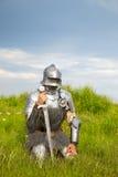 Cavaleiro, após a batalha Foto de Stock