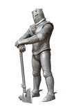 Cavaleiro, armadura e arma medievais Fotos de Stock Royalty Free