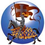 Cavaleiro com um padrão Foto de Stock Royalty Free