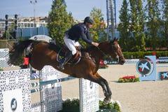 cavaleiro CSIO Barcelona Imagem de Stock