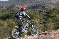 Cavaleiro da bicicleta das experimentações Imagem de Stock