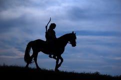Cavaleiro da equitação Foto de Stock Royalty Free