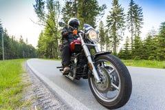 Cavaleiro da motocicleta Foto de Stock Royalty Free