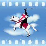 Cavaleiro da película ilustração do vetor