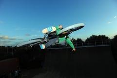 Cavaleiro da rampa de BMX Imagens de Stock Royalty Free