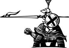 Cavaleiro da tartaruga Imagens de Stock
