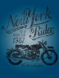 Cavaleiro das motocicletas ilustração stock