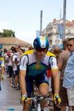Cavaleiro de Astana - excursão de France 2009 Imagens de Stock Royalty Free