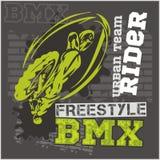 Cavaleiro de BMX - equipe urbana Projeto do vetor Imagem de Stock