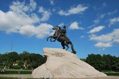 Cavaleiro de bronze Fotografia de Stock