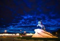 Cavaleiro de bronze Imagem de Stock