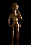 Cavaleiro de madeira idoso Don Quijote de la Mancha Fotografia de Stock Royalty Free