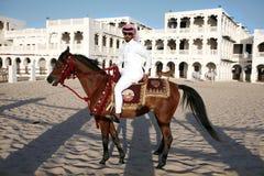 Cavaleiro de Qatar Foto de Stock Royalty Free