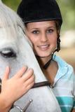 Cavaleiro do cavalo do adolescente Imagens de Stock