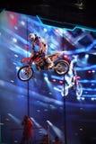 Cavaleiro do estilo livre de Motorcross Fotografia de Stock