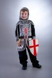 Cavaleiro do menino Fotos de Stock Royalty Free