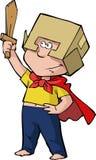 Cavaleiro do menino ilustração do vetor