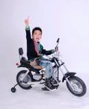 Cavaleiro do menino de Moto Imagem de Stock