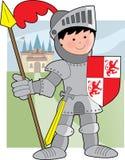Cavaleiro do miúdo Imagens de Stock Royalty Free