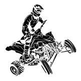 Cavaleiro do moto de ATV ilustração stock