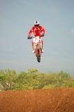 Cavaleiro do motocross Fotos de Stock Royalty Free