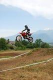 Cavaleiro do motocross Fotos de Stock