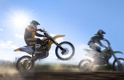 Cavaleiro do motocross Fotografia de Stock Royalty Free