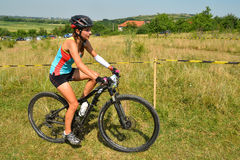 Cavaleiro do Mountain bike Imagem de Stock Royalty Free