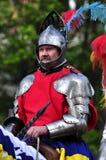 Cavaleiro do renascimento em horseback Foto de Stock Royalty Free