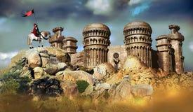 Cavaleiro e castelo ilustração royalty free