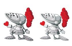 Cavaleiro e coração Foto de Stock Royalty Free