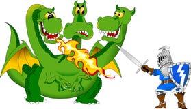 Cavaleiro e o dragão Fotografia de Stock Royalty Free