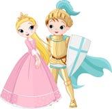 Cavaleiro e princesa ilustração royalty free