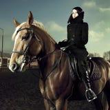 Cavaleiro elegante Fotografia de Stock
