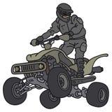 Cavaleiro em ATV ilustração royalty free